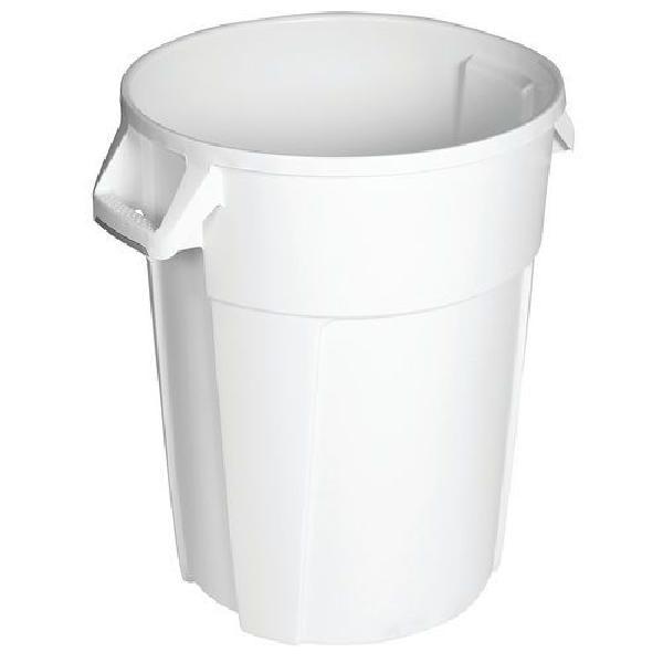 Plastový odpadkový koš Manutan Pure, objem 85 l, bílá (MB-1501380)