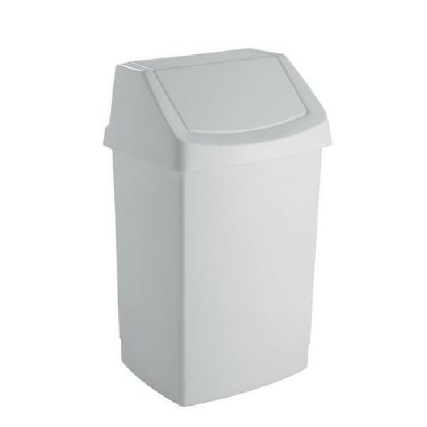 Plastový odpadkový koš Simple, objem 9 l, bílý (MB-122004)