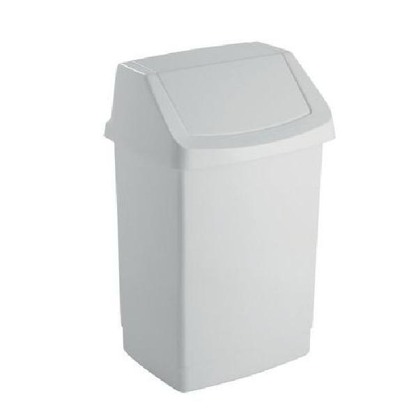 Plastový odpadkový koš Simple, objem 15 l, bílý (MB-122006)