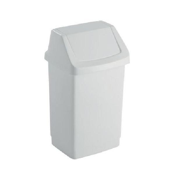 Plastový odpadkový koš Simple, objem 25 l, bílý (MB-122008)
