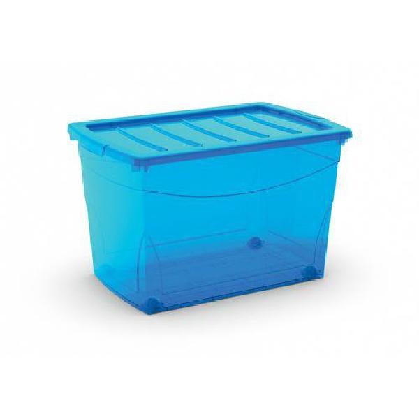 Plastový úložný box s víkem, modrý, 60 l (MB-122017)