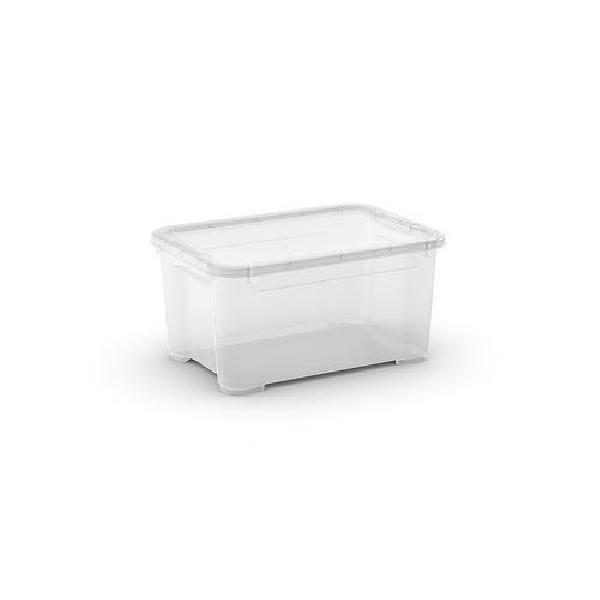Plastový úložný box s víkem, průhledný, 13,5 l (MB-122018)