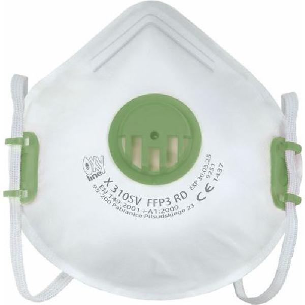Opakovaně použitelný respirátor, stupeň ochrany FFP3, balení 10 ks (MB-1274001)